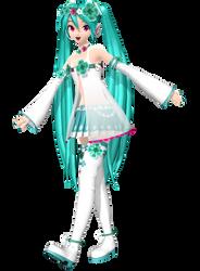Project Diva Arcade Future Tone Spiritual Miku by WeFede