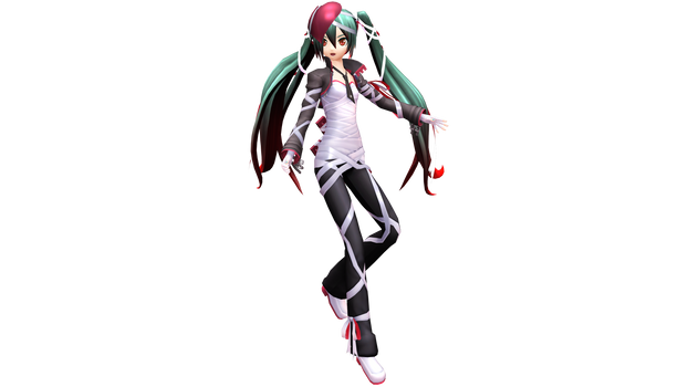 Project Diva X Bandaged Heart Miku by WeFede