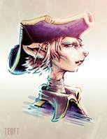 Sketch: Captain Amelia by Teoft