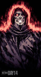 Inktober 2017 Day 14: Dracula #1 by Teoft