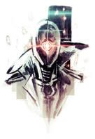 Sketch: Random Cyborg by Teoft