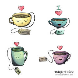Teacup Stickers by delightedmuse