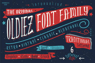 Oldiez Font Family by inumocca