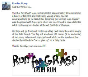 Run for GRASP, Run for Aspergers by SHOrTwiRED