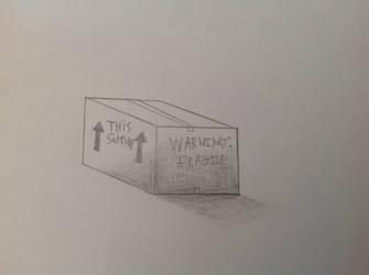 Shading test on a cardboard box by rainbows2424