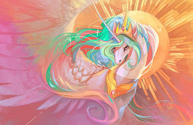 .:MLP:. Princess Celestia by not-unicorn