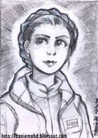 Braided Leia - Sketchcard by HanieMohd