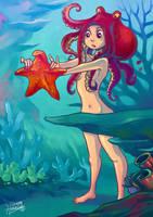 Octogirl found a Starfish by HanieMohd