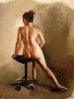 figure in oils 2 by Noe-Leyva