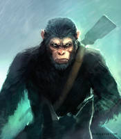 War for the Planet of the Apes Caesar Fan Art by Noe-Leyva