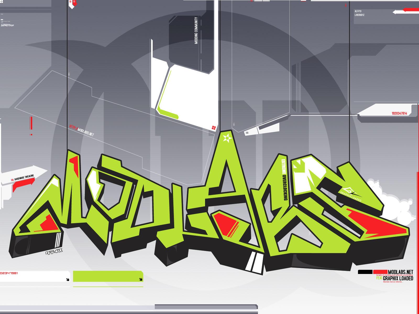 Modlabs wall II GRAFFITI by gloaded