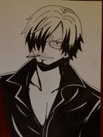 Sanji - White and Black by Jennux3