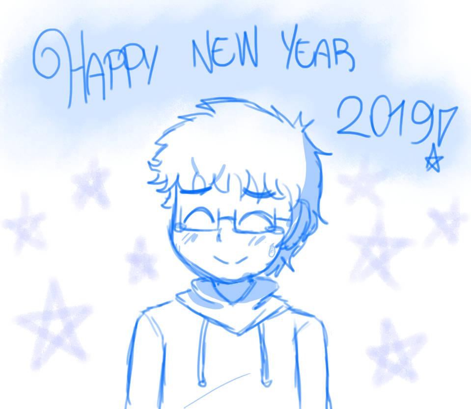 Happy new year 2019! by animetomodachi