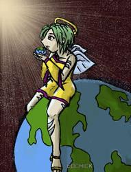 world in hand by edchick