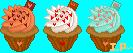 Valentine Swirlies Cupcakes by Ice-Pandora