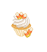 Candycorn cupcakeII by Ice-Pandora