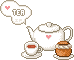 Tea set puff by Ice-Pandora