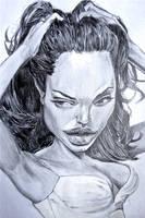Angelina Jolie CARICATURE - Speed Drawing Italia by Speeddrawingitalia