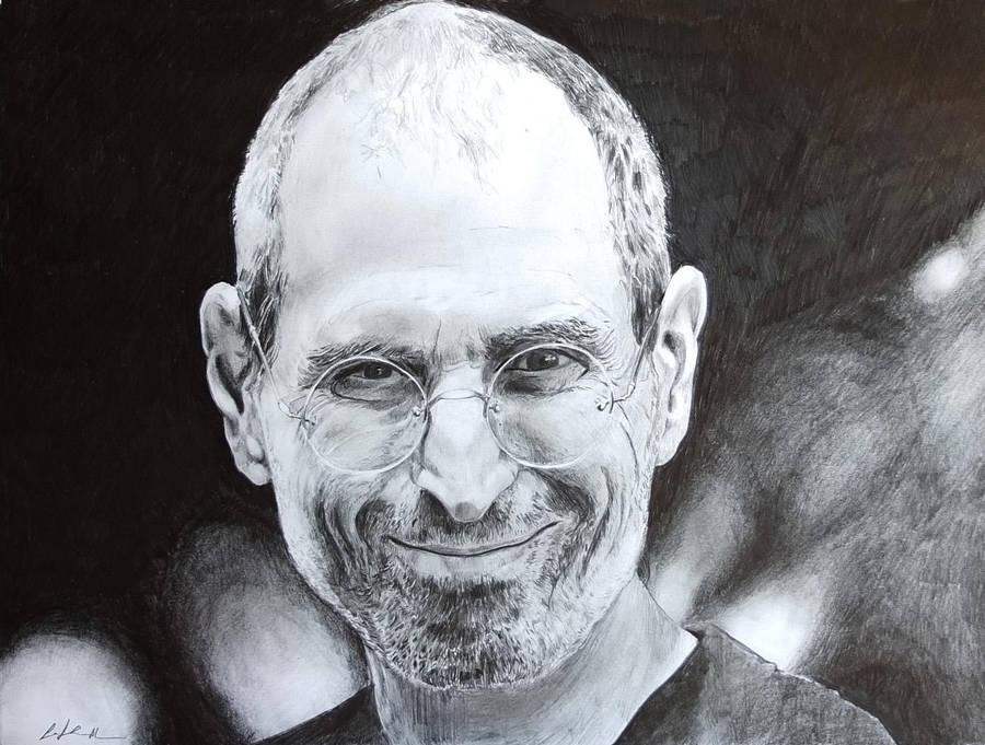 Steve Jobs Portrait . SPEED DRAWING ITALIA by Speeddrawingitalia