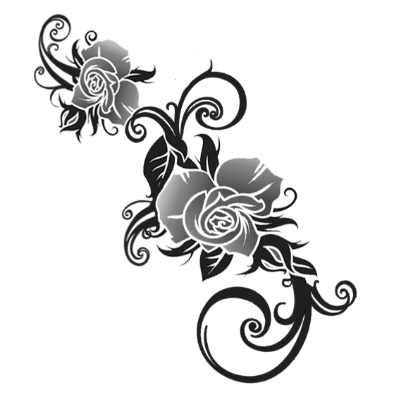 Black Tribal Png Rose Design Pictures Www Picturesboss Com