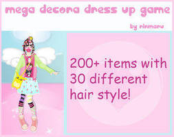 Mega decora dress up game by Rinmaru