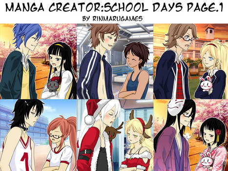 Manga creator School Days : page.1 by Rinmaru