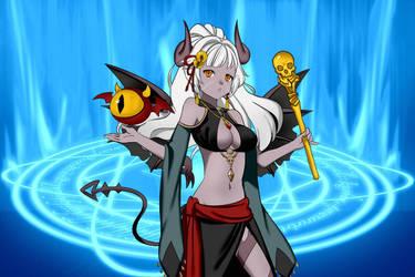 Anime Demon Girl by Rinmaru