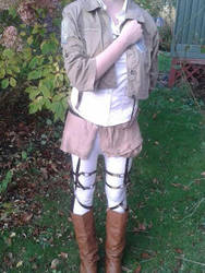attack on titan cosplay (front) by SecretKeeper24601