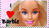 I love Barbie Stamp by JunkbyJen