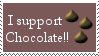 I Support Chocolate Stamp by JunkbyJen