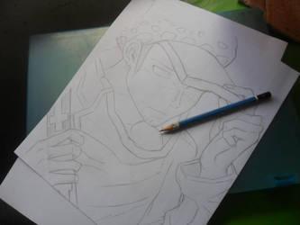 Traf Light Sketch by lilredbleed