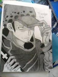 One Piece - Trafalgar Law by lilredbleed