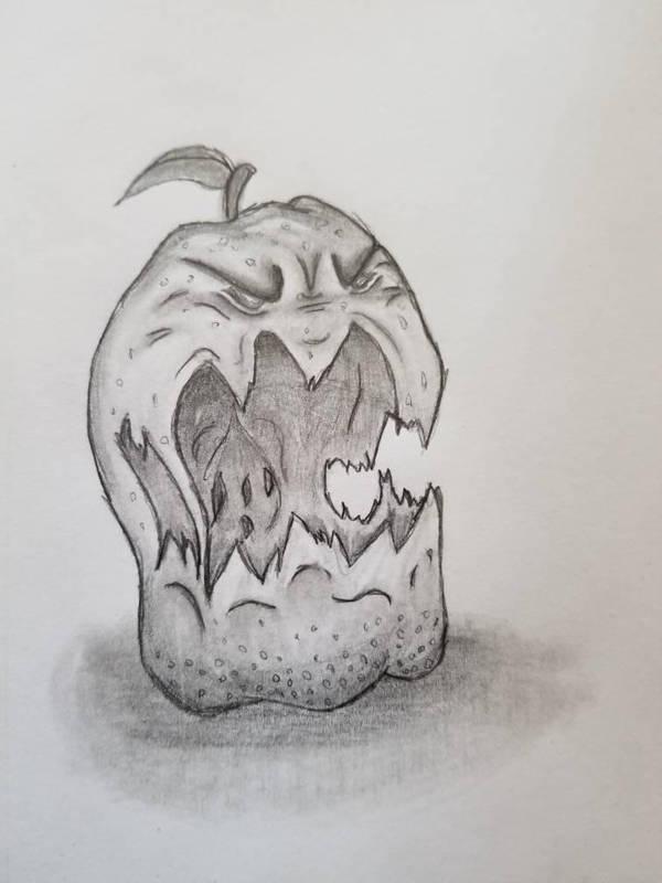 Enraged Apple by Maximillio