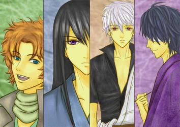 Gintama - The Joi members by Benitora53