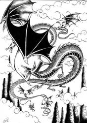 Dragon Sketch by amjie