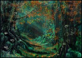 Dark-Beech Forest by JanaW