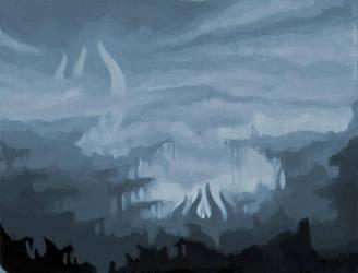 Bluish Valley by taerin