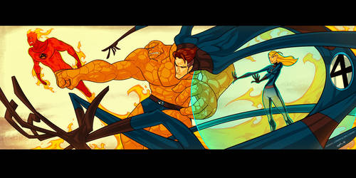 Fantastic 4 fanart by Gingashi