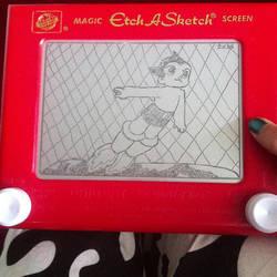 Astro Boy Etch A Sketch by 2-Star