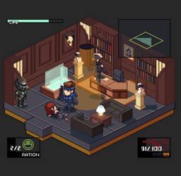 Metal Gear Solid - Psycho Mantis Battle by tenpoundpixel