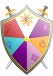 Knights of Harmony Shield and Arms II Colors by Fyre-Medi