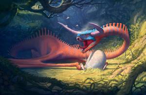 Dragon Demon Snake by badillafloyd