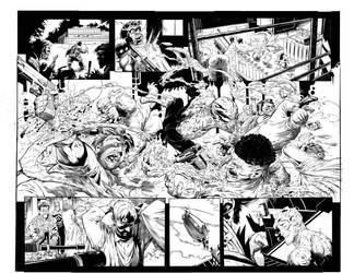 Haunt Double Page Spread by Colorzoo
