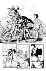 Batman on a Bike by Colorzoo