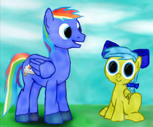 Rainbow Gale andHoney Suckle by Rainbow-Gale