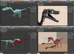 3D Raptor by JustoKazu