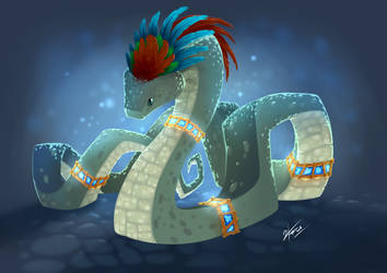 Quetzacoatl by JustoKazu