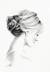 Hair Study by davepinsker