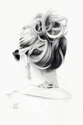 Hair Study 2 by davepinsker