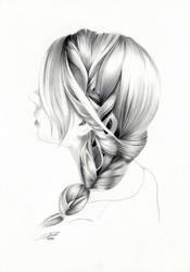 Hair Study 3 by davepinsker